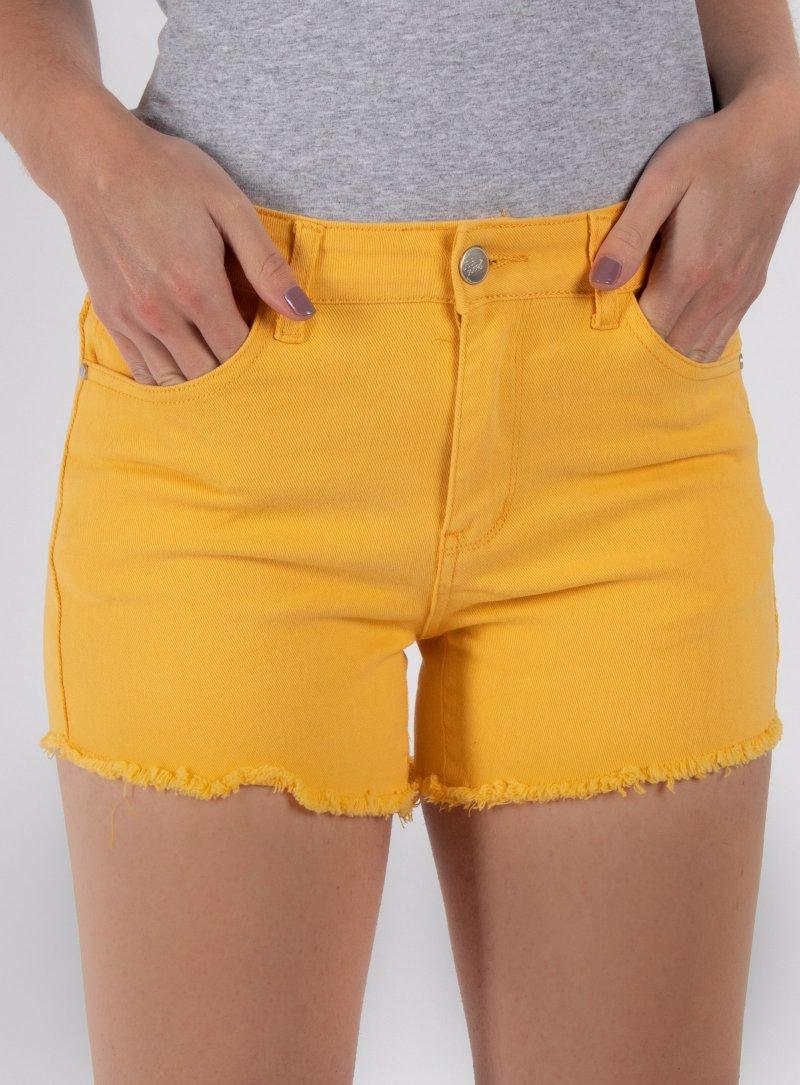 Žlté rifľové kraťasy Jennet