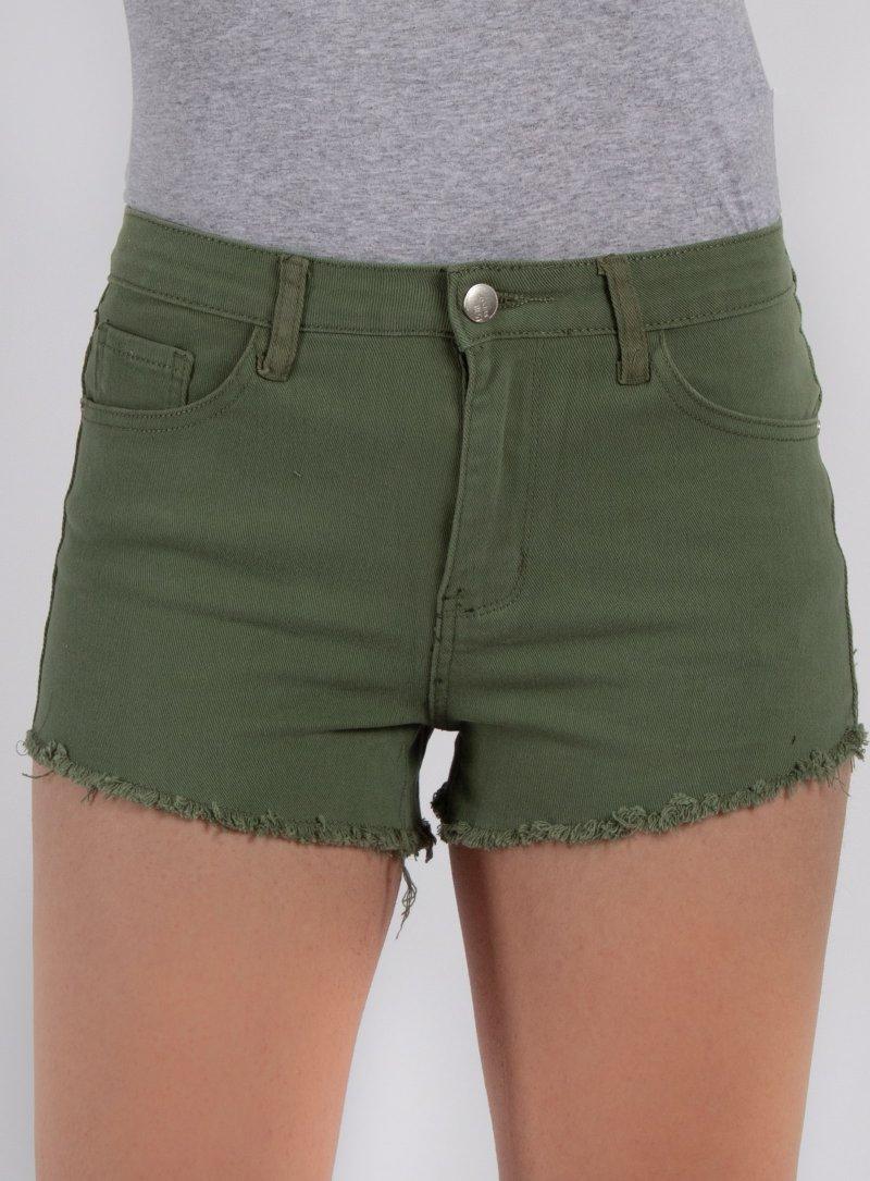 Zelené rifľové kraťasy Jennet