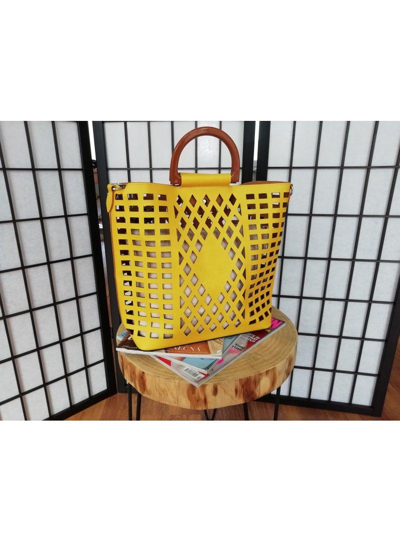 Žltá dámska kabelka Shine