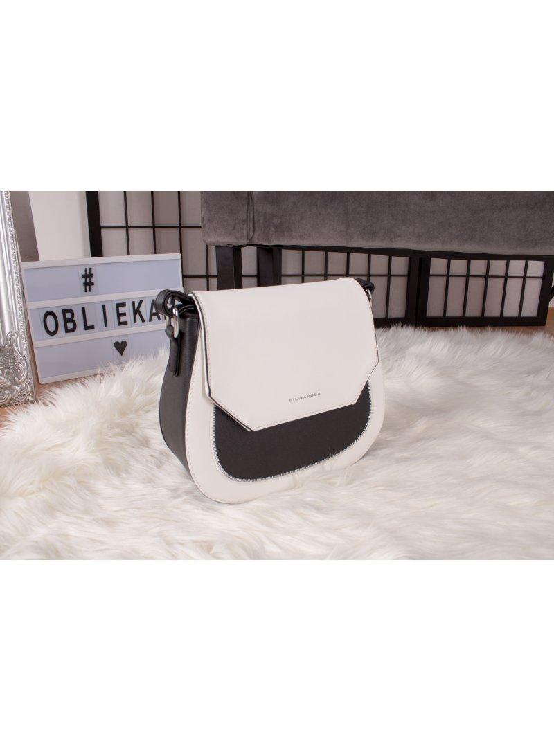 Čierno-biela kabelka Silviarosa