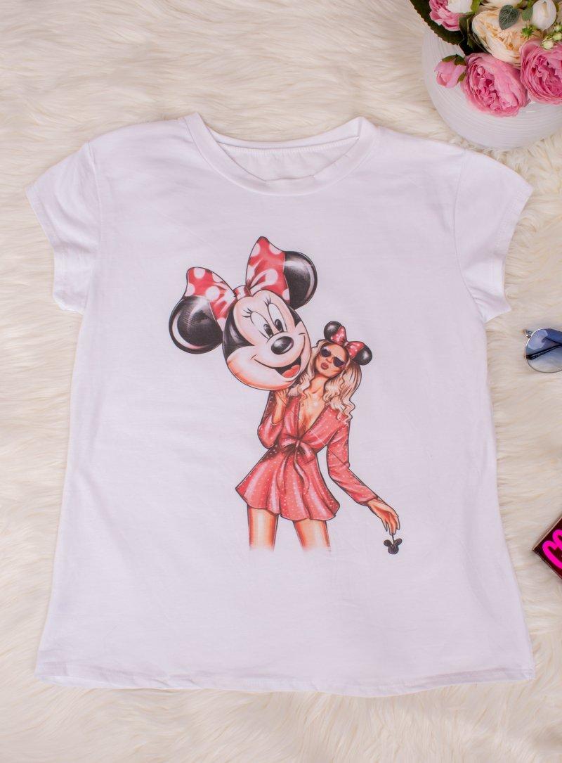 Biele tričko s potlačou Disney